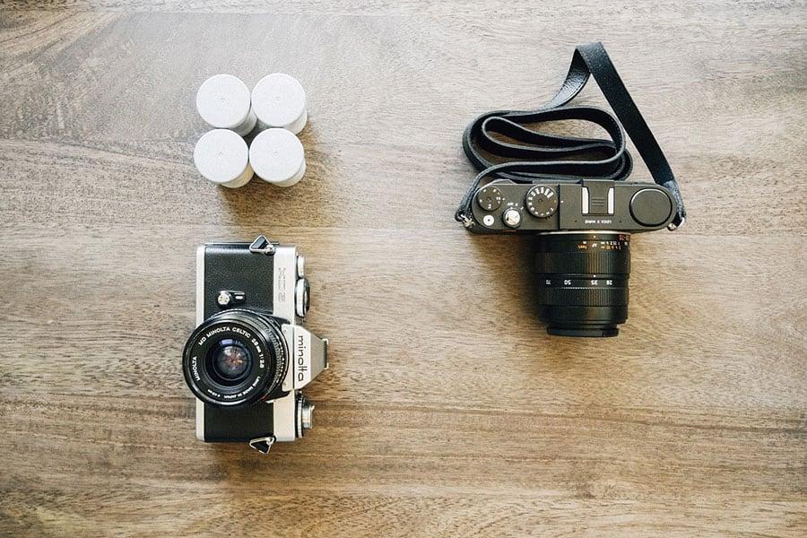 Sprzęt fotograficzny.