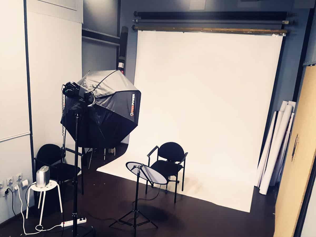 Wnętrze studia fotografii przy ul. Unii Lubelskiej 12A