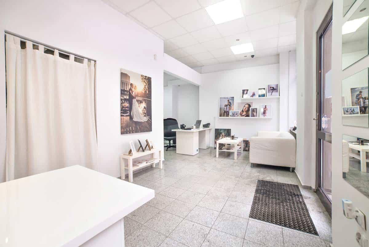Wnętrze studia fotograficznego Grupy 5D w Bydgoszczy.