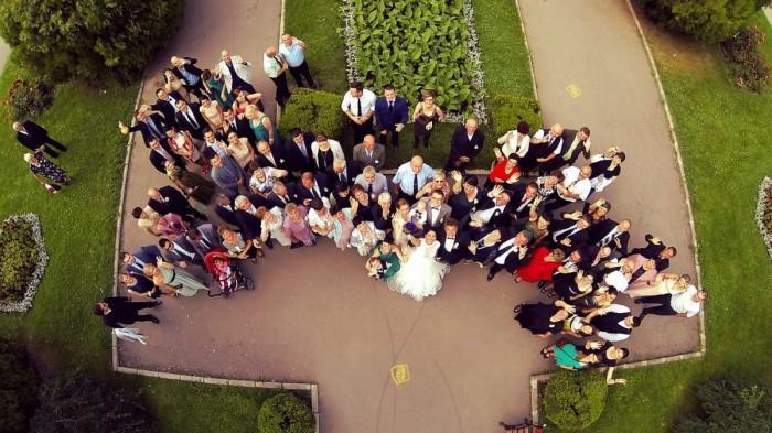 Ciekawe fotografie ślubne z drona