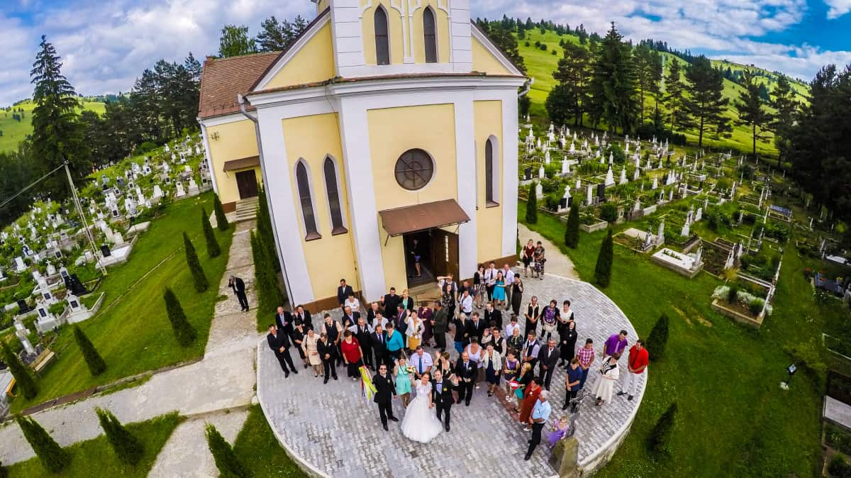 Ciekawe Fotografie ślubne Z Drona Grupa 5d Bydgoszcz