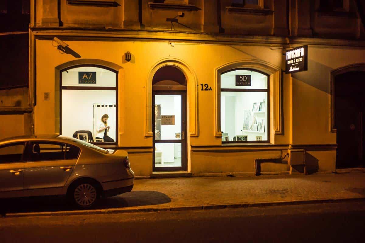 Studio fotograficzne Grupy 5D przy ul. Unii Lubelskiej 12A w Bydgoszczy.